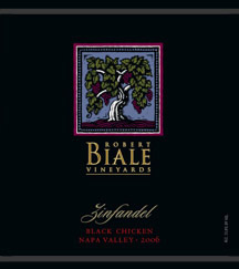 2006 Robert Biale Black Chicken Zinfandel from Napa Valley California