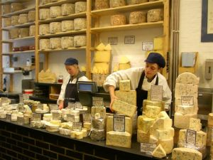 Neal's Yard Dairy on the edges of the famous Borough Market in London