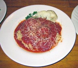 Meatballs-on-Angel-Hair-Pasta-Marie's Restaurant