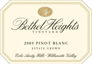 Bethel Heights 2009 Pinot Blanc Estate Grown
