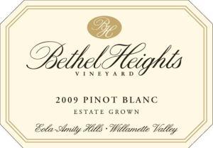 Bethel Heights 2009 Pinot Blanc Estate Grown