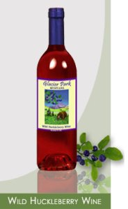 Glacier Wild Huckleberry Wine from The Flathead Winery