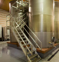 A two‐level, gravity‐flow fermentation room that allows for gentle grape movement