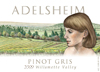 2009 Pinot Gris, Willamette Valley