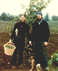 David and Ginny, Adelsheim Vineyard's First Harvest of 1971