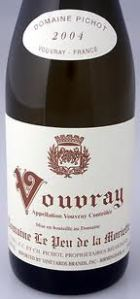 Bottle of Vouvray