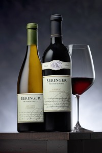 Beringer Chardonnay and Cabernet Sauvignon
