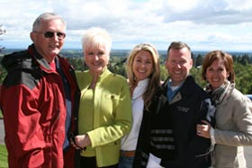 Arbor Crest owners The Mielke Family: Harry, Marcia, Elisa, John, and Kristina